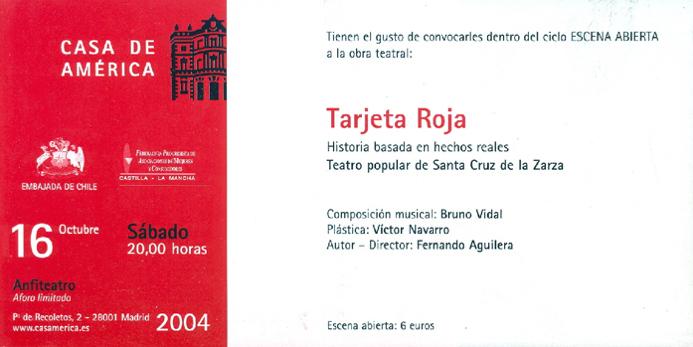 Tarjeta roja, invitación
